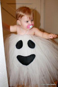 disfraz halloween de fantasma para niña con tutú Disfraz casero de fantasma para Halloween