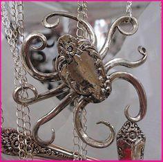 The Octomom Vintage Flatware Silverware Jewelry by MizTrixiePiggle, $45.00