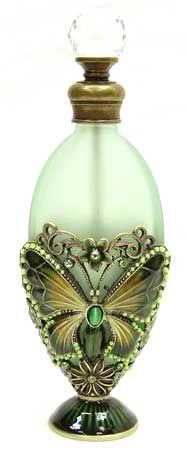green perfume bottle  #butterfly #kelebek #fly #papillon #Schmetterling #mariposa #farfalla