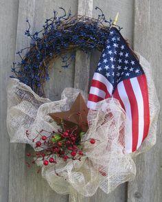 Patriotic Wreath, American Flag Wreath, Americana, 4th of July570 x 712 | 149.5KB | www.etsy.com