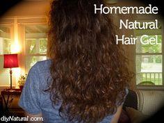 Homemade Natural Hair Gel using powdered gelatin