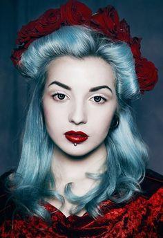 Blue #hair #bright #dyed