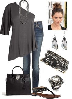 never really tried the one shoulder thing but its a cute idea and a cute outfit!