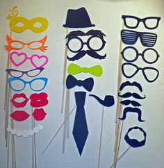photo booth prop set of 25- wedding photo booth prop set of 25 pieces. $20.00, via Etsy.