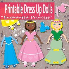 Free Printable Princess Paper Dolls.