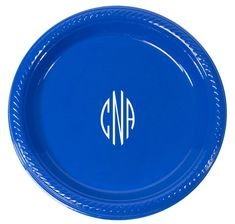 Shaped Oval Monogram Plastic Plates