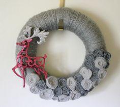 gray deer wreath