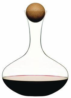 Modern and Elegant Sagaform Wine Carafe with Oak Stopper