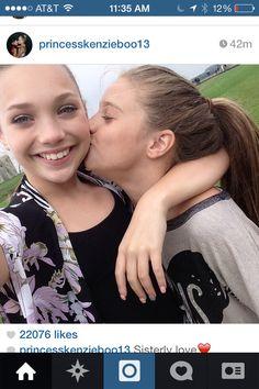 Sisterly love! Maddie and Mackenzie Ziegler