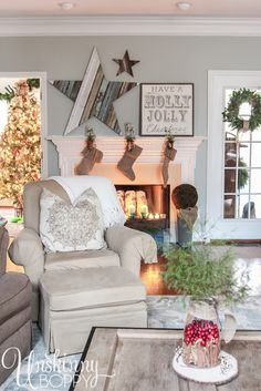 You have GOT to see the full tour of this house all decorated for the holidays. Amazing.
