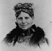 """Clara Barton:1821-1912) - Civil War nurse, founder of the American Red Cross.  Barton refused to take a salary from the government's treasury & dedicated herself aiding soldiers on the front. Never had women been allowed in hospitals, camps or battlefields; initially, military & civil officials refused her help. Eventually, she gained their trust & began receiving supplies from all over the country. As a result of her untiring work, she became known as the """"Angel of the Battlefield."""""""