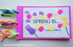 """""""Spring Is"""" Book Idea (from One Time Through)"""