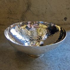 Image of small hammered silver bowl