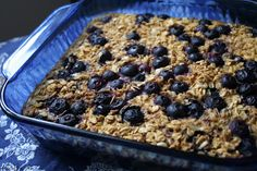 Makin' it Mo' Betta: Meyer Lemon Blueberry Baked Oatmeal