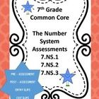 This editable product includes a twenty question pre-assessment and a 20 question post assessment on the number system for 7th grade (7.NS.1, 7.NS....