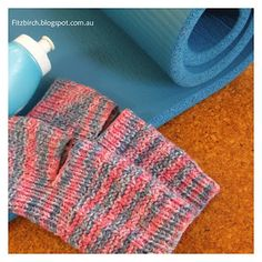 Knitted Yoga Socks - with link to pattern.