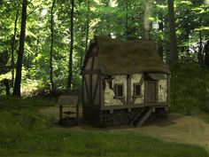 Image detail for -Medieval House in the Forest