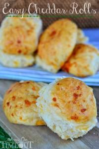 Easy No-Knead Cheddar Rolls are quick and easy to make on MyRecipeMagic.com.