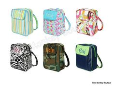 Kids Size Backpacks in 6 Different Prints   Great Gift Idea....FREE MONOGRAMMING
