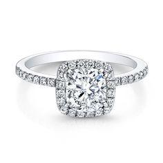 Halo Cushion Diamond Engagement Ring
