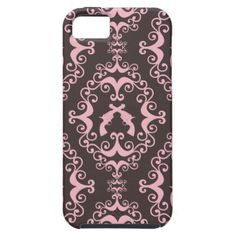 Damask pink black guns grunge western pistols chic iPhone 5 case.  I have to have this!