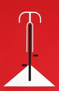 Minimalist cycling poster