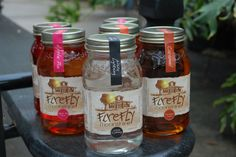 jar labels and packaging | flavored moonshine - Firefly Moonshines