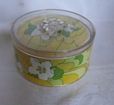 Vintage Avon Lemon Velvet Flower Power Dusting Powder