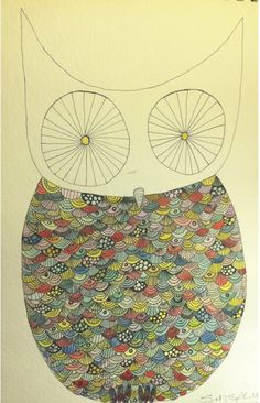 'Patterned Owl' by Sarah England