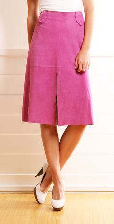Dolce & Gabbana Pink Perforated Pencil Skirt