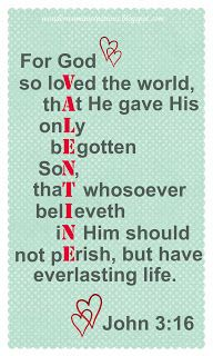 John 3:16 - Valentine