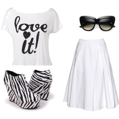 White Party Love., created by lauramayes on Polyvore