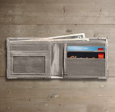 Stainless Steel Wallet | RH