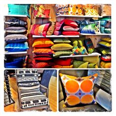 Obsessed with this color palette!!!///Crate&Barrel accent pillow