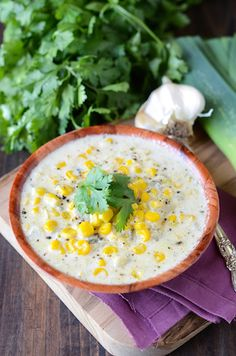 Creamy Sweet Corn and Roasted Poblano Soup - quick & flavorful soup. Perfect for all the Summer sweet corn coming up!