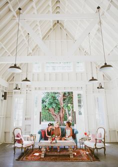 ModCloth + Green Wedding Shoes bridesmaid dresses! (And how great is the barn at The Lombardi House?!) #gwsxmodcloth