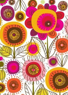 fabul pattern, floral patterns, carolyn gavin, flower pattern design, color, design patterns, flower patterns to paint, prints, print patterns