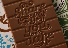 Lettering on chocolate