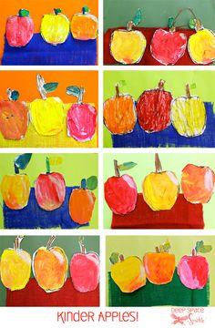 Apple art project for kindergarten