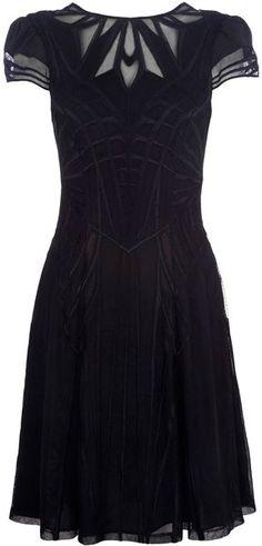 Karen Millen | Geometric Embroidery Dress