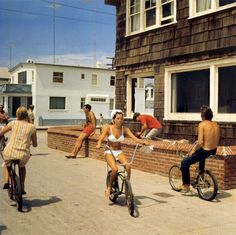 summer bike ride - photography by california surf culture photographer leroy grannis.