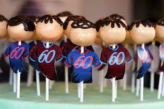 60th Birthday Soccer Player Cake Pops