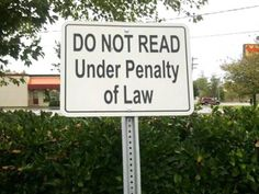 IMPOSSIBLE!!! (find more funny street signs at funnysigns.net)
