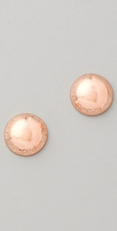 marc by marc jacobs rose gold earrings