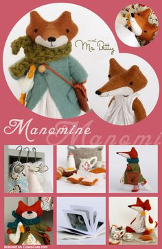 Manomine Cute Fox doll