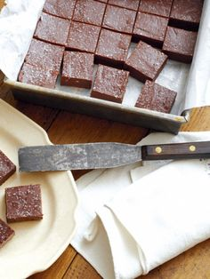 Mexican Hot-Chocolate Refrigerator Fudge. LOVE chocolate and hot pepper together!