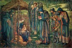 Sir Edward Burne-Jones – The Star of Bethlehem (1890) watercolor  Birmingham, Museum and Art Gallery