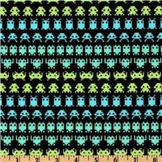 Geeks Gone Wild Space Invaders Green/Black