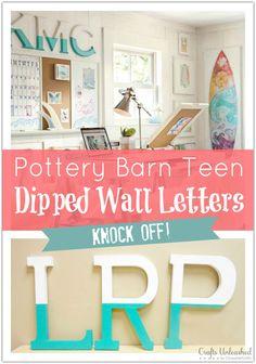 Wall Letter Decor Tutorial: Pottery Barn Teen Knock Off