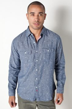 the PERFECT shirt for my non-existent boyfriend >> Anchor Shirt in Navy by BTNS for $79.00